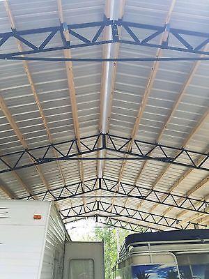 Details about 40x60x12 Steel Truss Barn Kit 8x8x16 Pressure Treated