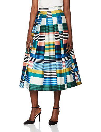 8a82f4bf65 L.K. Bennett Women's Tippi Skirt, Green (Eden Green), 14. UK skirts ...