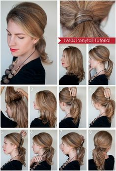 Diy ponytail hairstyles for medium long hair coiffure maquillage long hair updos easy to do yourself diy ponytail hairstyles for medium long hair popular haircuts solutioingenieria Gallery