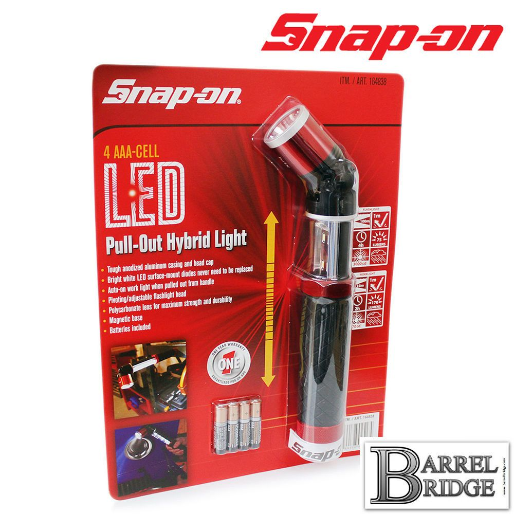 Snap On Led Light Pull Out Hybrid Inspection Lamp Flashlight