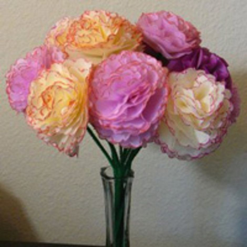 Scalloped edge paper flowers  Craft Projects  Pinterest