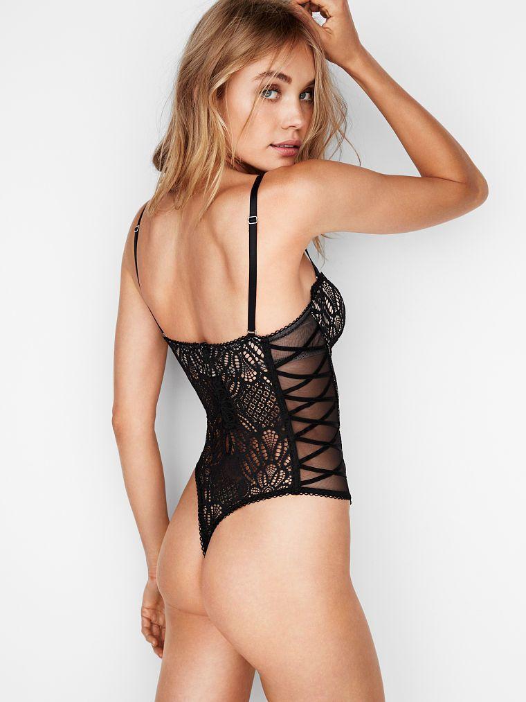 66a3cf7496bc Lace-up Bodysuit | Dream Angels Lace Up Bodysuit | Women lingerie ...