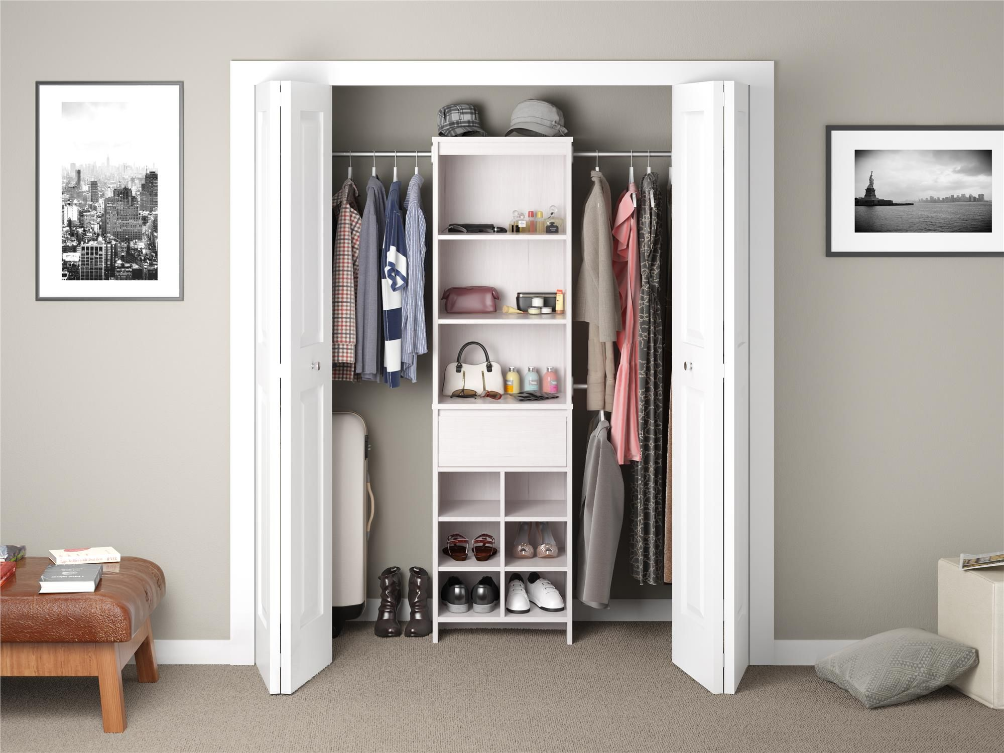 Home | Closet system, Closet organization, White closet