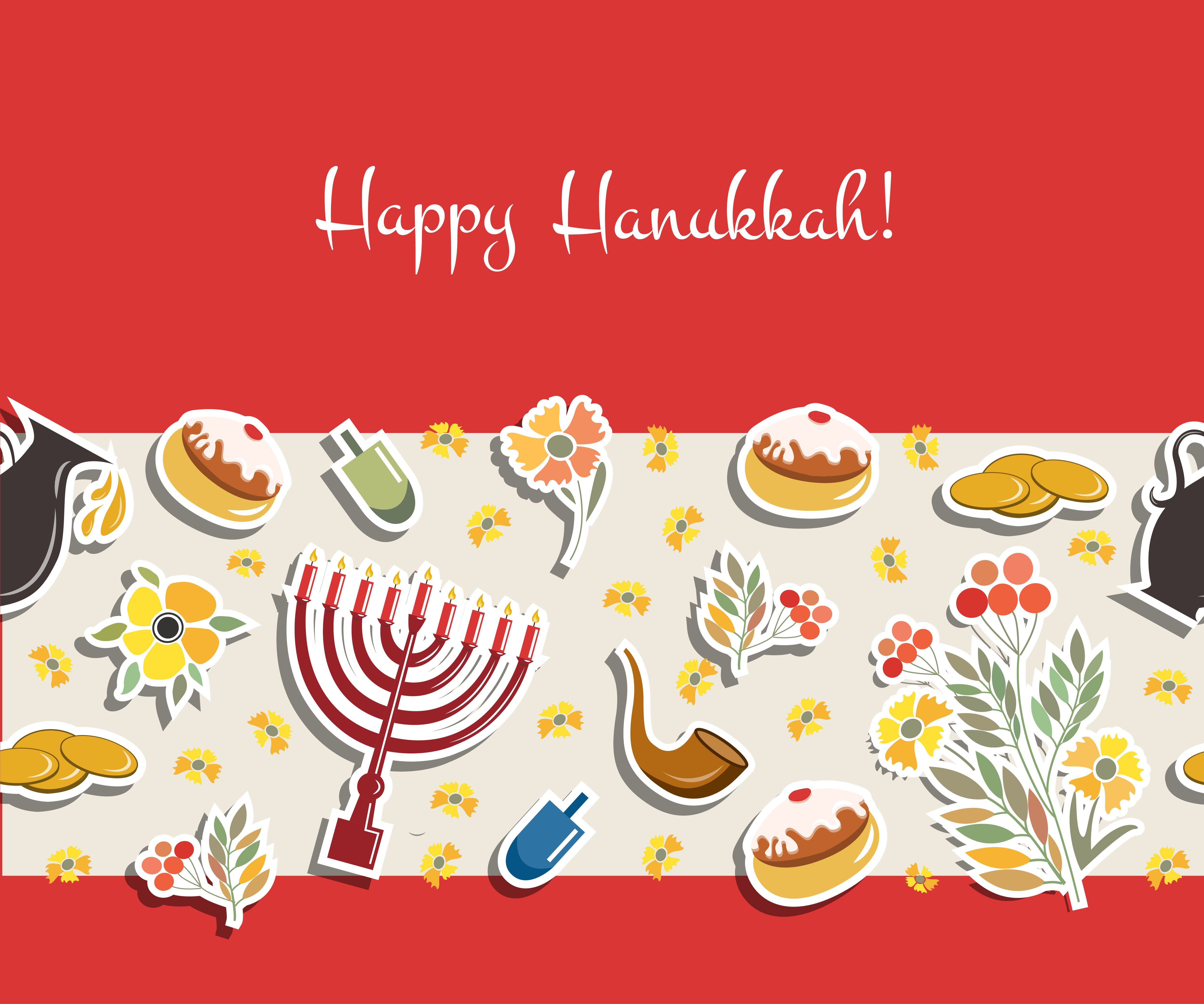 Happy Hanukkah Card By Alps View Art On Creative Market Hanukkah