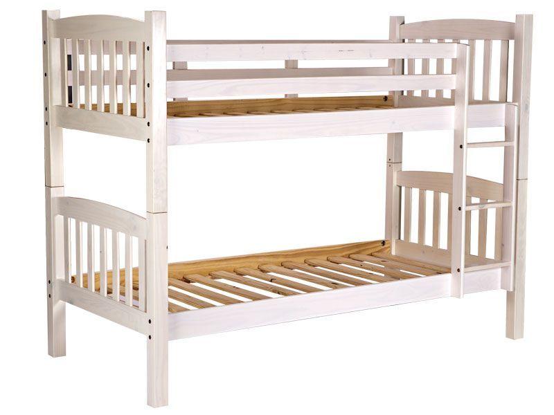 Litera blanca 220 free delivery new bedroom for Camas triples baratas