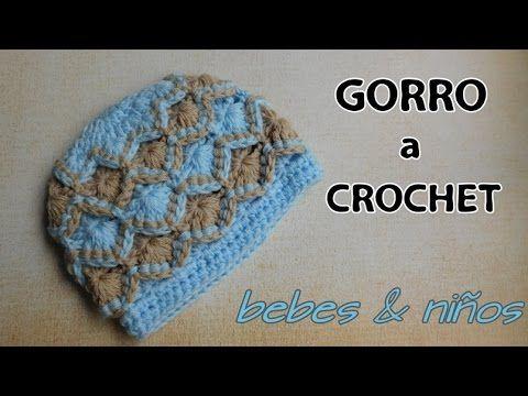 Como tejer gorro para niños y bebes a crochet | Video Örgü şapka ...