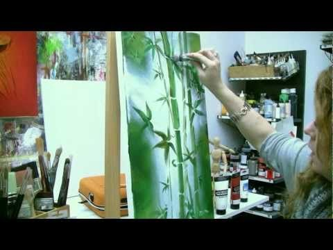 Abstract Floral Painting Demo Time Lapse Abstraktes Blumenbild In
