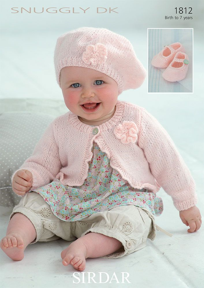 Cardi, Beret and Shoes in Sirdar Snuggly DK - 1812 - Downloadable ...