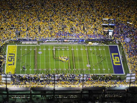 premium selection a0fe4 9684b Louisiana State University - Band Spells LSU on the Field at Tiger .