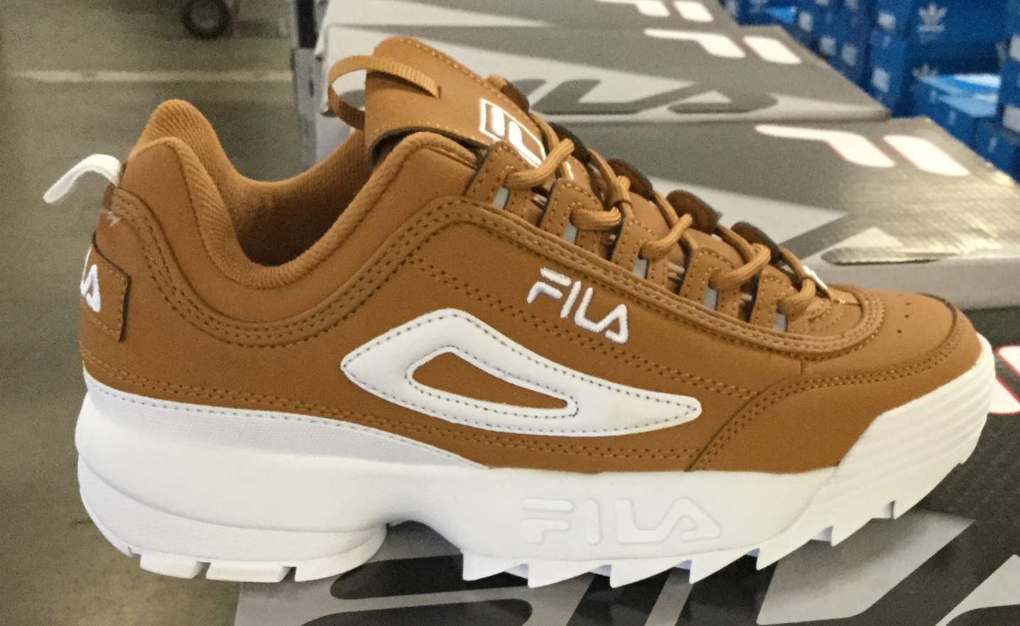 19e663893c67 FILA DISRUPTOR II Men s Casual Tracking Shoes Wheat(Tan) 1XM00001-222 Fast  Ship