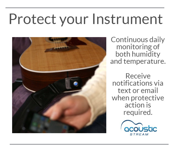 Protect Your Instrument Acoustic Instruments Are Easily Damaged By Excessive Or Rapid Changes In Temperature And Hum Acoustic Instrument Acoustic Smart Device
