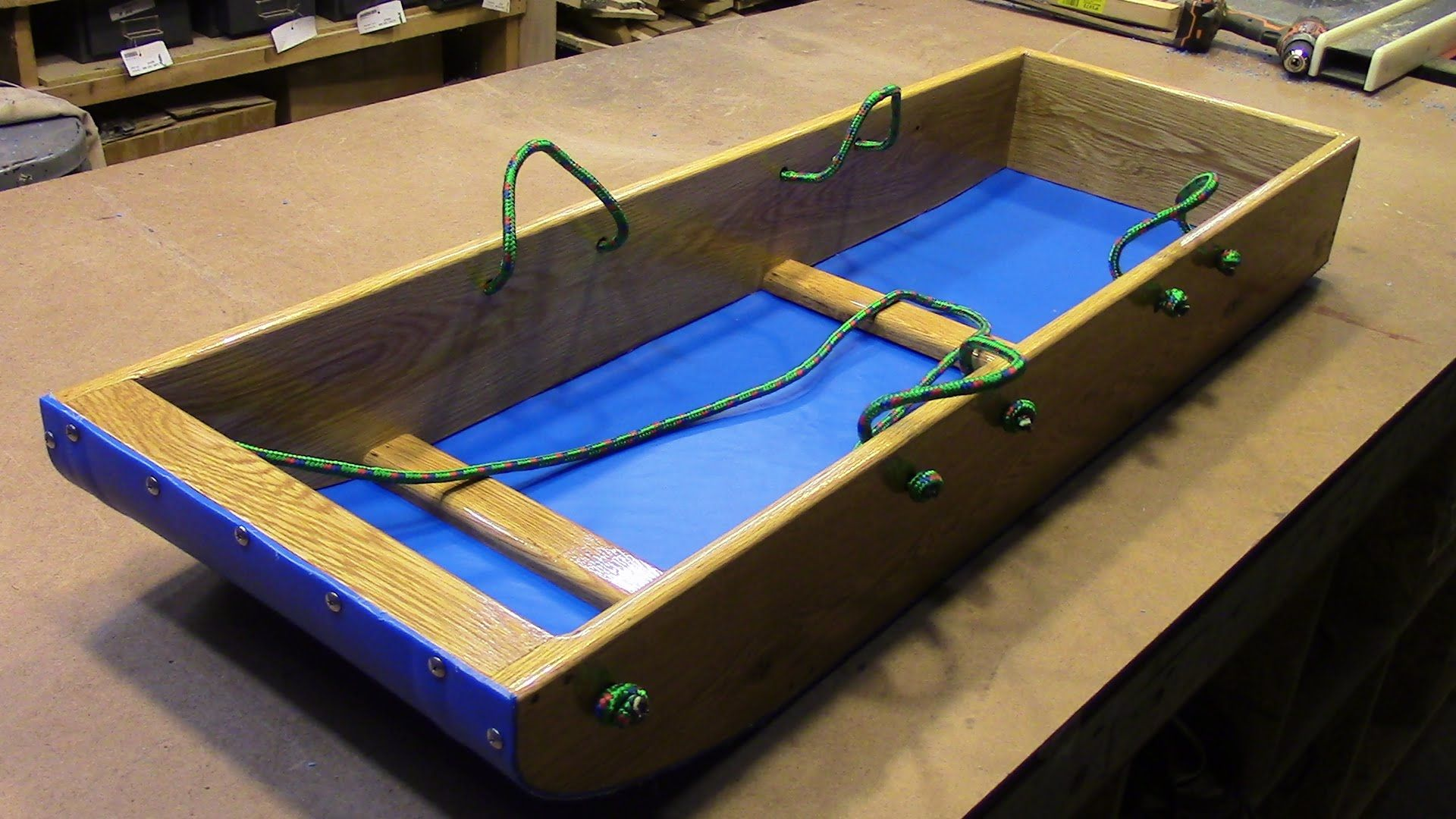 Easy Homemade Toboggan Sled | DIY | Easy woodworking projects