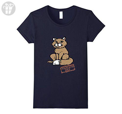 Women's Tomcats Rule Funny Cat Shirt For Men Medium Navy - Birthday shirts (*Amazon Partner-Link)