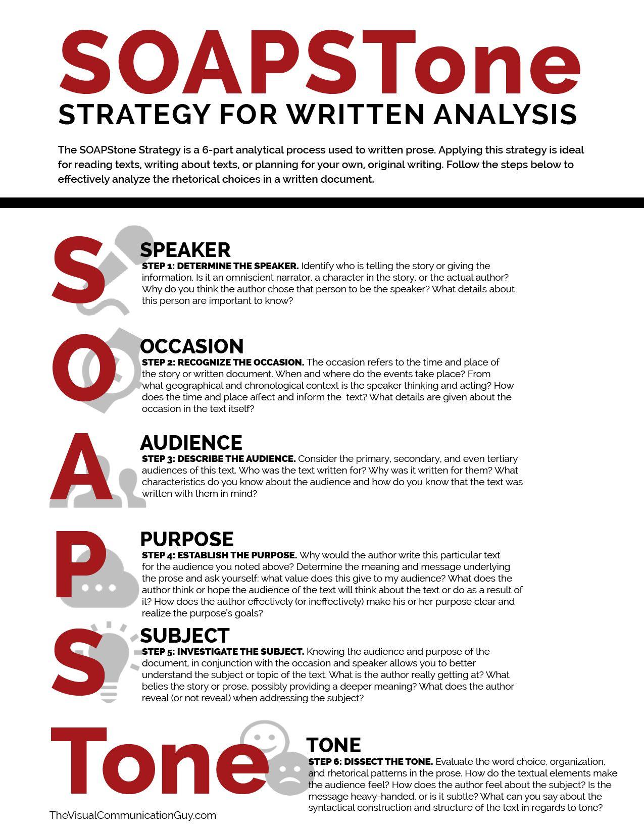 Soapstone Strategy For Writtenysis
