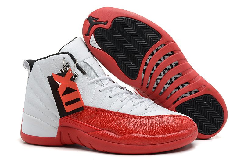 b4ad3ca3209e41 Air Jordans 12 Retro White Varsity Red-Black For Sale New Arrival