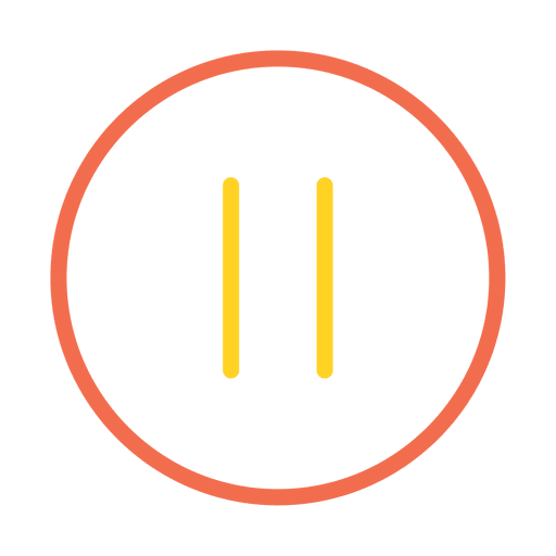Colorful Stroke Pause Button Icon Ad Ad Affiliate Stroke Icon Button Colorful Icon Color Layout Template