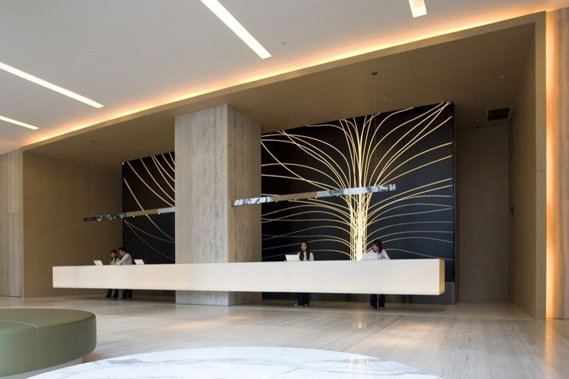 33 reception desks featuring interesting and intriguing for Hotel design 77