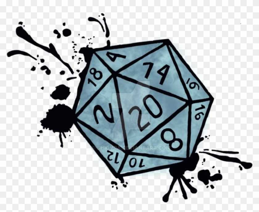 Download And Share Clipart About D20 Splatter Version 2 By Shiovra D20 Design Find More High Quali Dungeons And Dragons Art Dice Tattoo Dungeons And Dragons