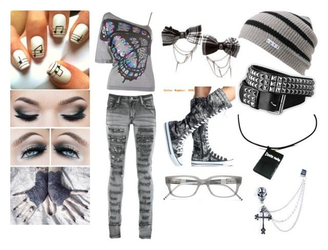 """""""Casual"""" by mcrulesthemcrmy ❤ liked on Polyvore featuring Miss Sixty, Neff, Thom Browne and PlayMe Jeans"""