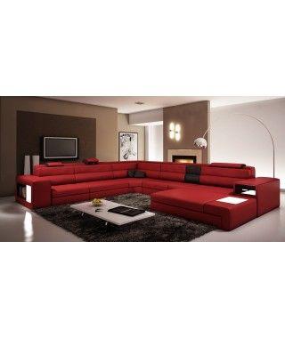Epingle Par Khadija Diouf Sur Salon Canape Angle Canape Panoramique Cuir Lit Design