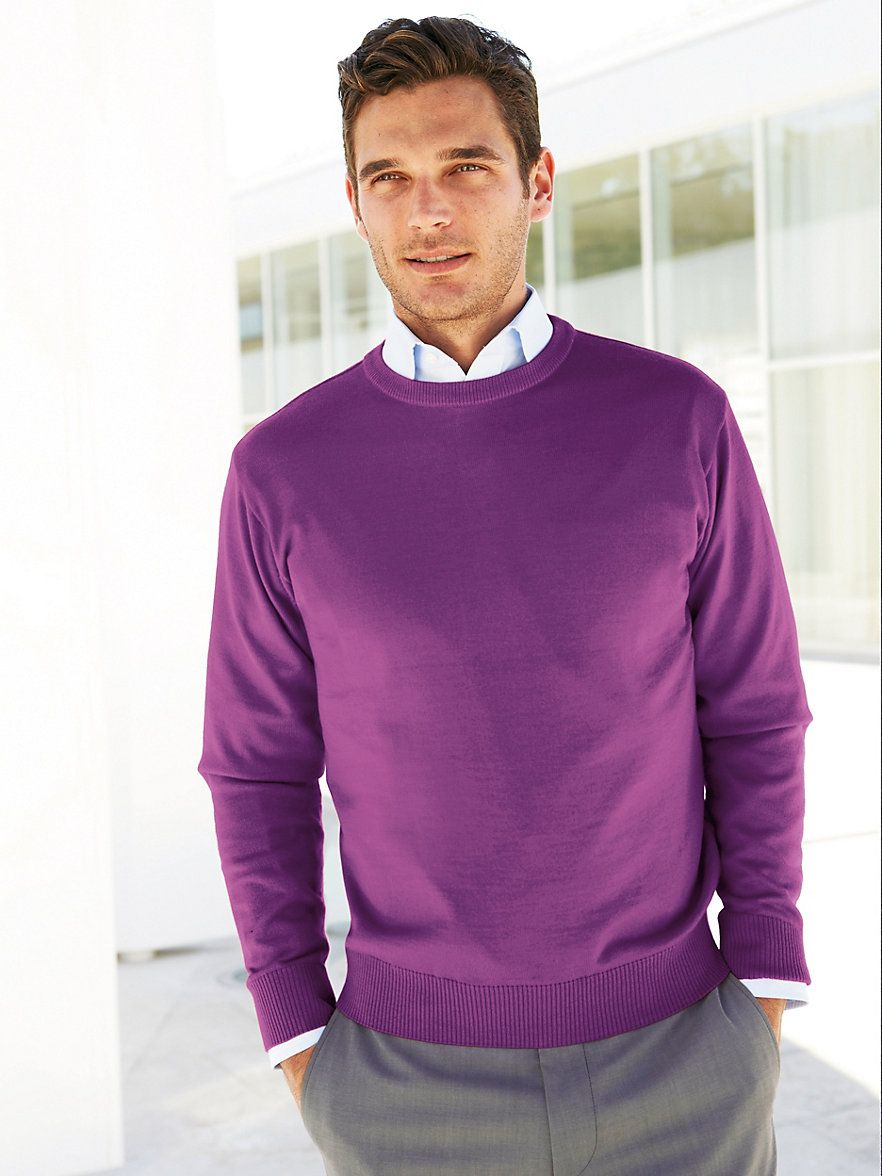 Peter Hahn purple pullover spring casual #menswear | Mens Suites ...