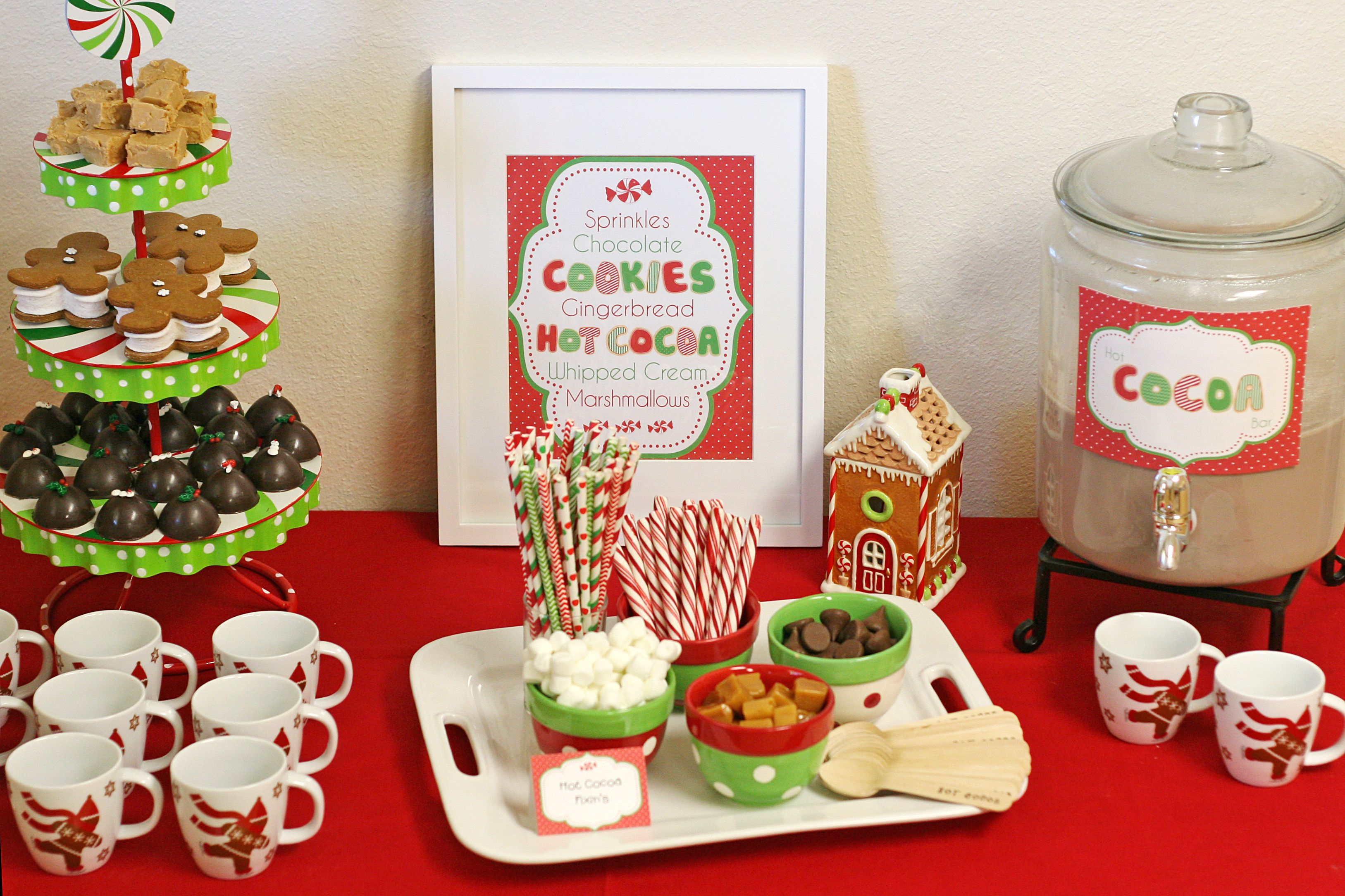 Christmas dessert table decoration ideas - Auntie Bea S Bakery 12 Days Of Christmas Cookies Hot Cocoa Recipe