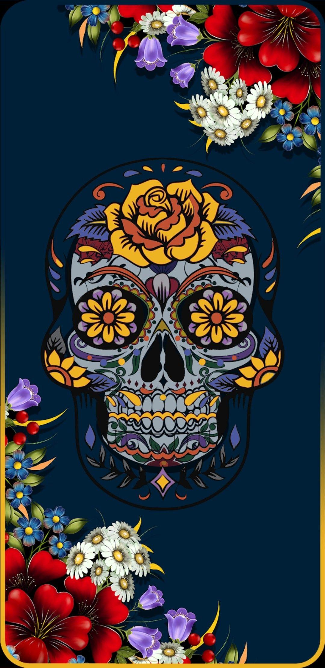 Pin by Gralyne Watkins on Skull / Skeleton Wallpaper