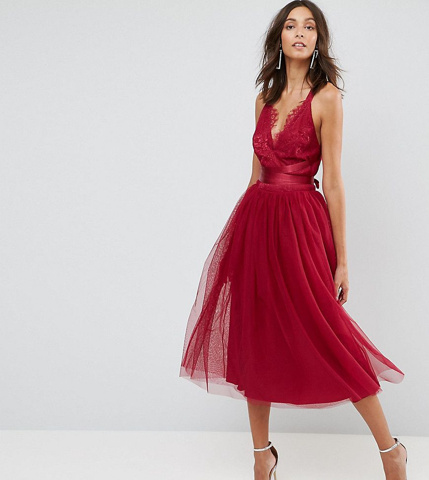 e8994e3d182 Asos Tall Lace Cami Midi Prom Dress - Gomes Weine AG
