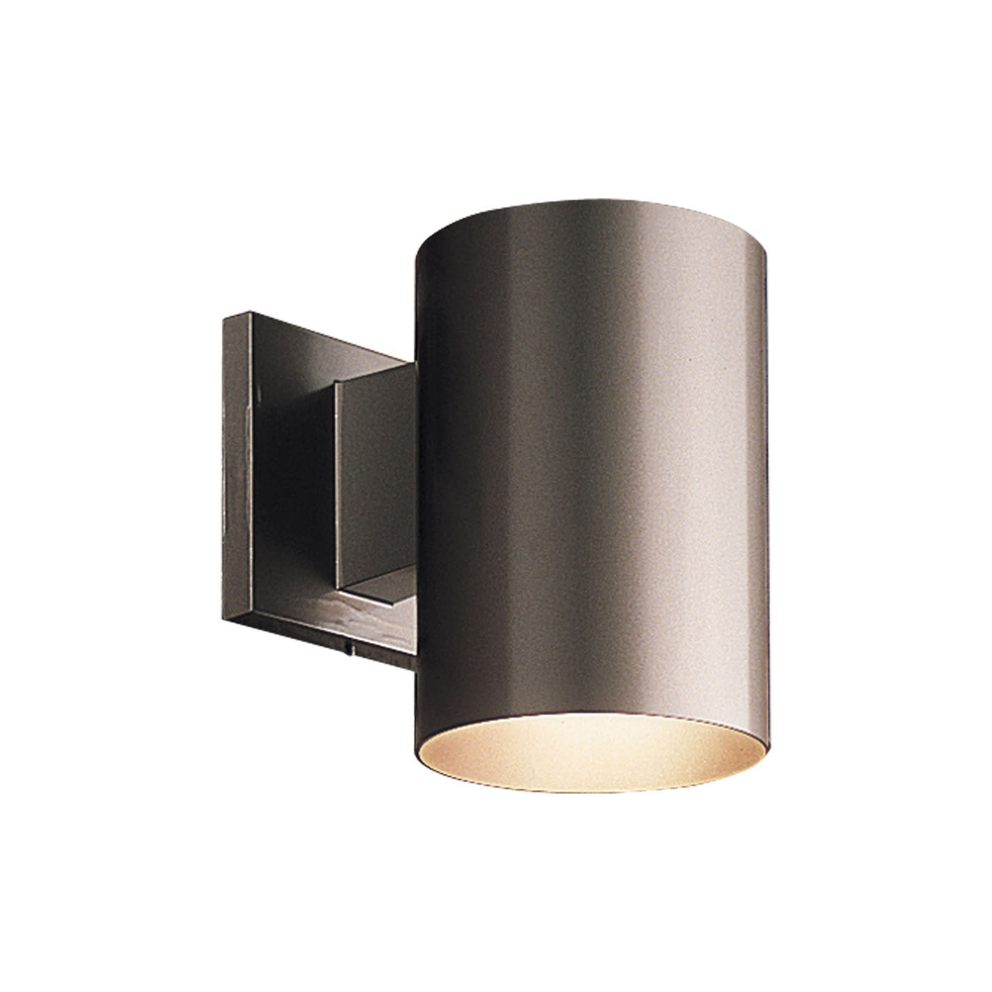 Progress Lighting P5674 Cylinder 1 Light Outdoor Wall Sconce With Metal Cylinder Shade Antique B With Images Outdoor Wall Sconce Progress Lighting Wall Sconces