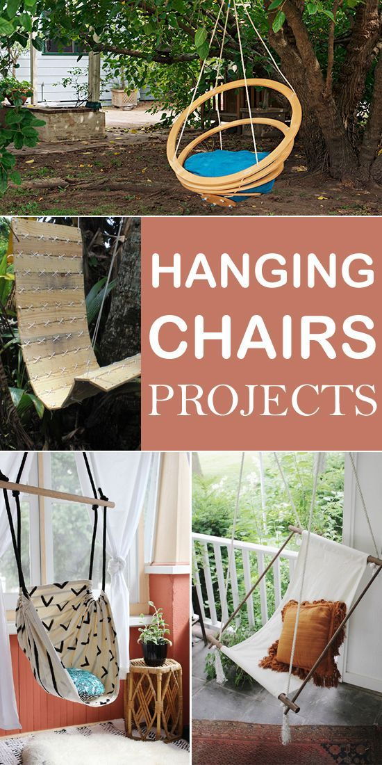 Creative DIY Hanging Chairs Projects If you want to make a hanging chair by yourself, here are 12 creative ideas to inspire you!If you want to make a hanging chair by yourself, here are 12 creative ideas to inspire you!