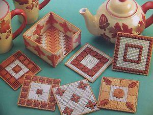 Nice Coaster Ensemble Set Pattern for Plastic Canvas Pattern…