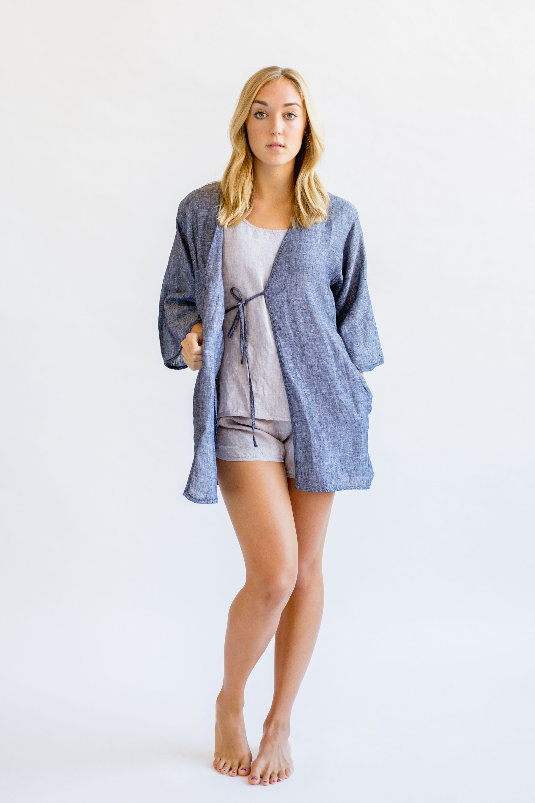 Washed Linen Robe in Charcoal | Pinterest | Dressing gown, Linens ...