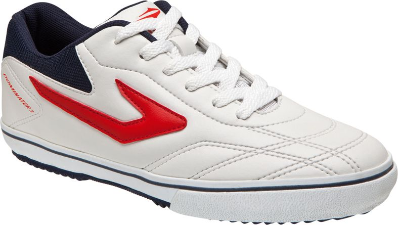 Tênis Topper Futsal Dominator III Adulto Branco e Vermelho  f2439c3eb9501