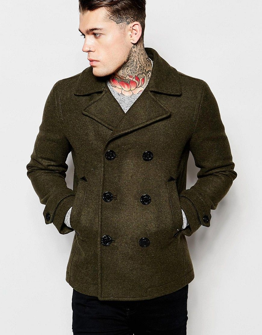 47e95a8a3 Diesel Wool Peacoat W-Sami Double Breasted