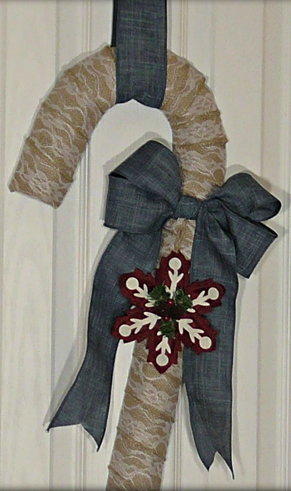 I Used Linen Ribbon, Burlap Ribbon, A Wire Wreath, And
