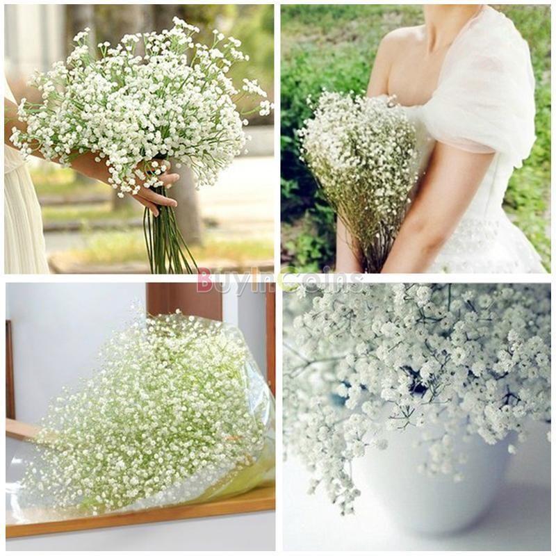Artificial Fake Silk Gypsophila Baby S Breath Flower Plant Home Wedding Decor Silk Flowers Wedding Wedding Flowers Home Wedding Decorations
