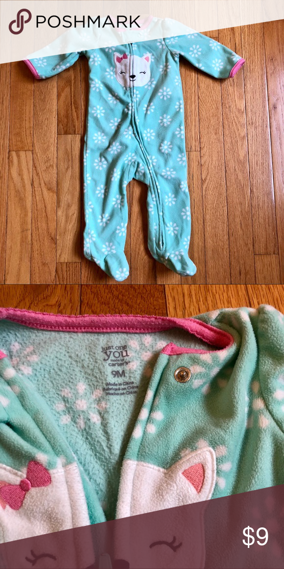 ba5a1d0a9fa6 Carters Just For You Fleece Zip Pajamas in 2018