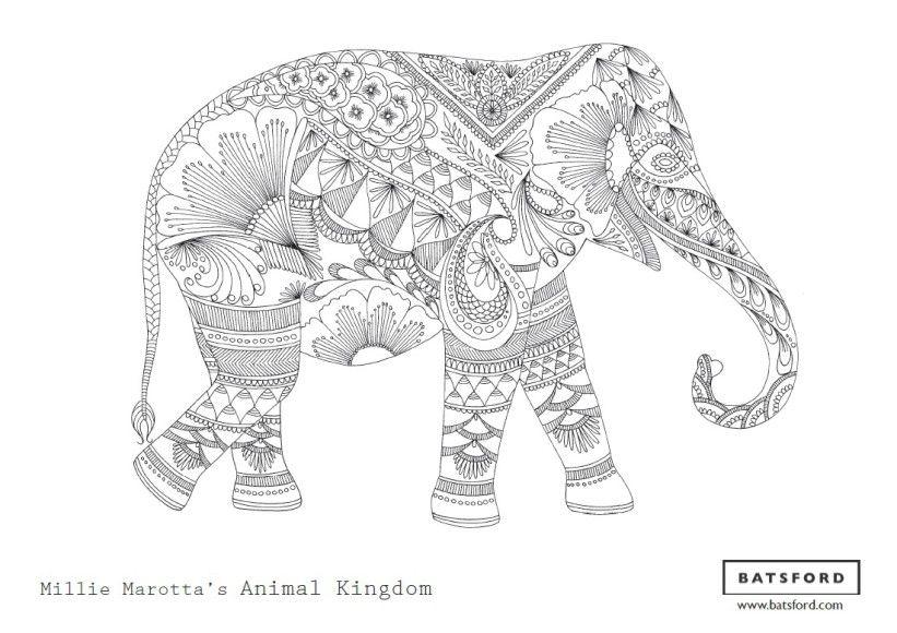 Free Elephant Zentangle Download