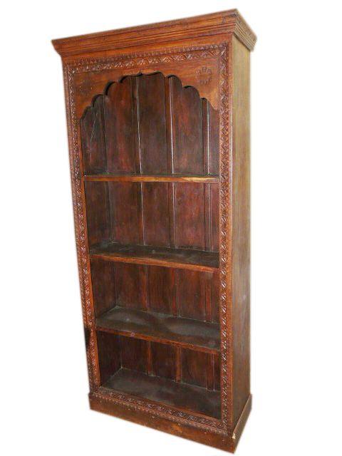 Antique Mehrab Frame Bookcase Carved India Furniture 1 648 00