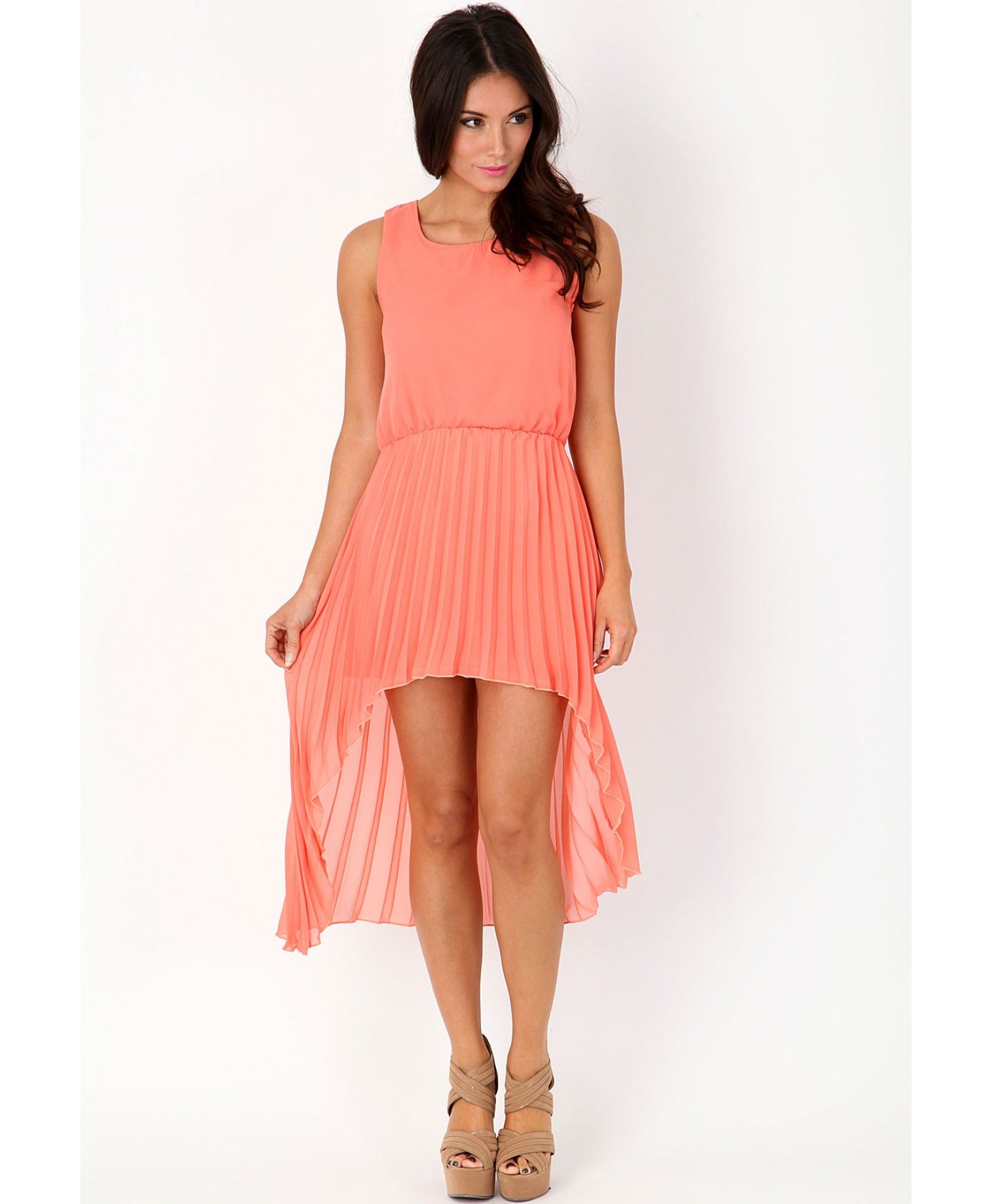 Asymetric dress and peachy ium into it pinterest missguided