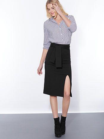 b6a068251e2 Pencil φούστα με ενσωματωμένη ζώνη σε πολλα χρώματα | ΦΟΥΣΤΕΣ ...