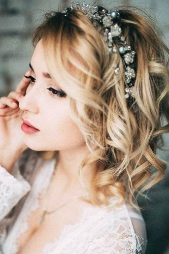 33 Wedding Hairstyles With Hair Down #shortbridalhairstyles