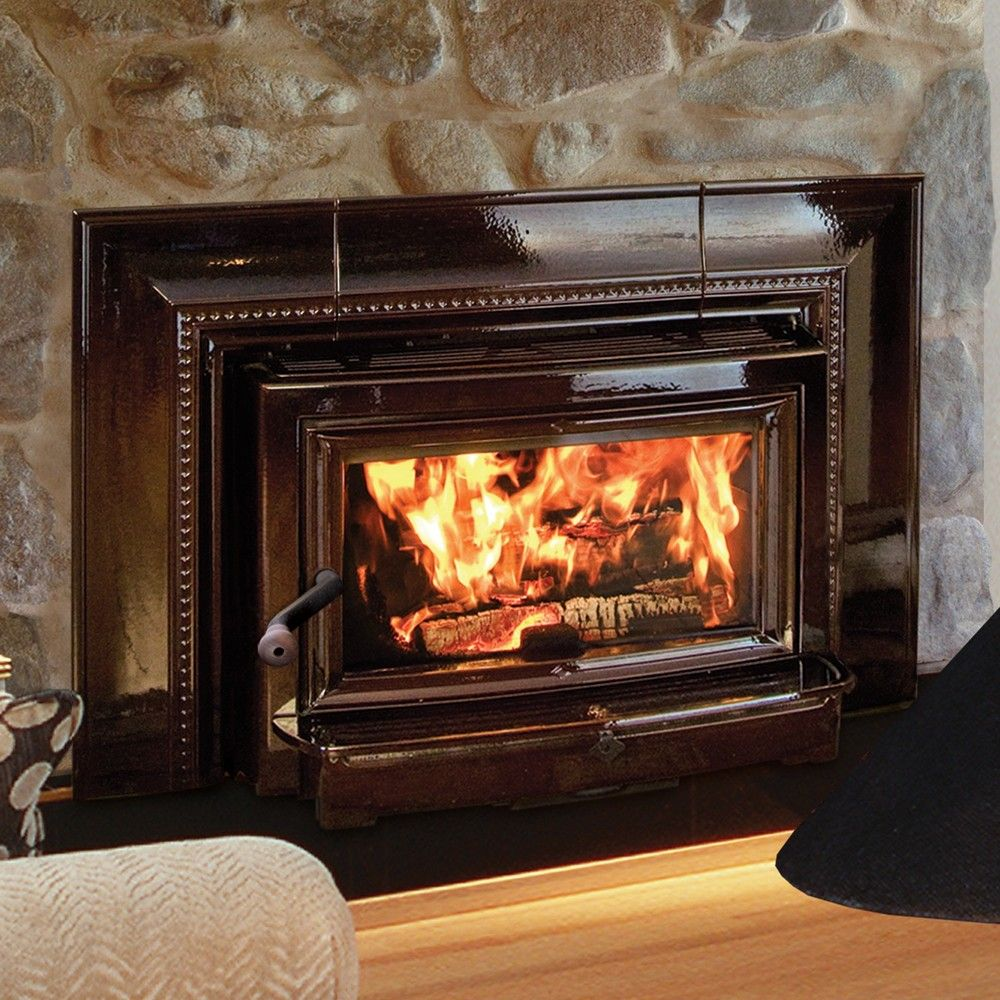 various kinds of awesome wood burning fireplace insert: charming wood burning fireplace combined high gloss mantel and hardrock wall