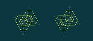 pólvora em bits: Padrões geométricos entrelaçados - 3