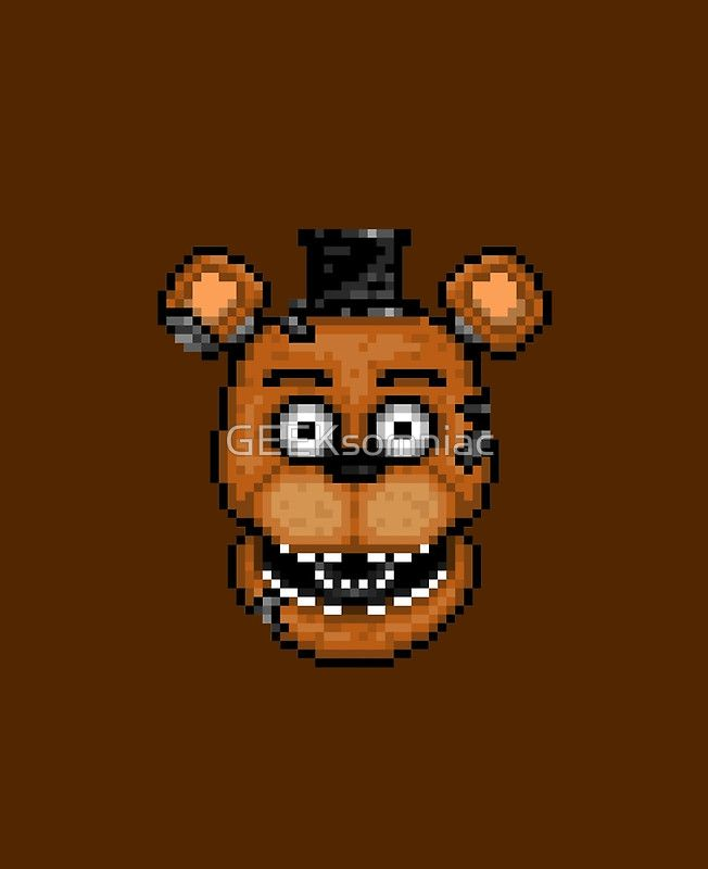 Five Nights at Freddy's 2 Pixel art Withered Old