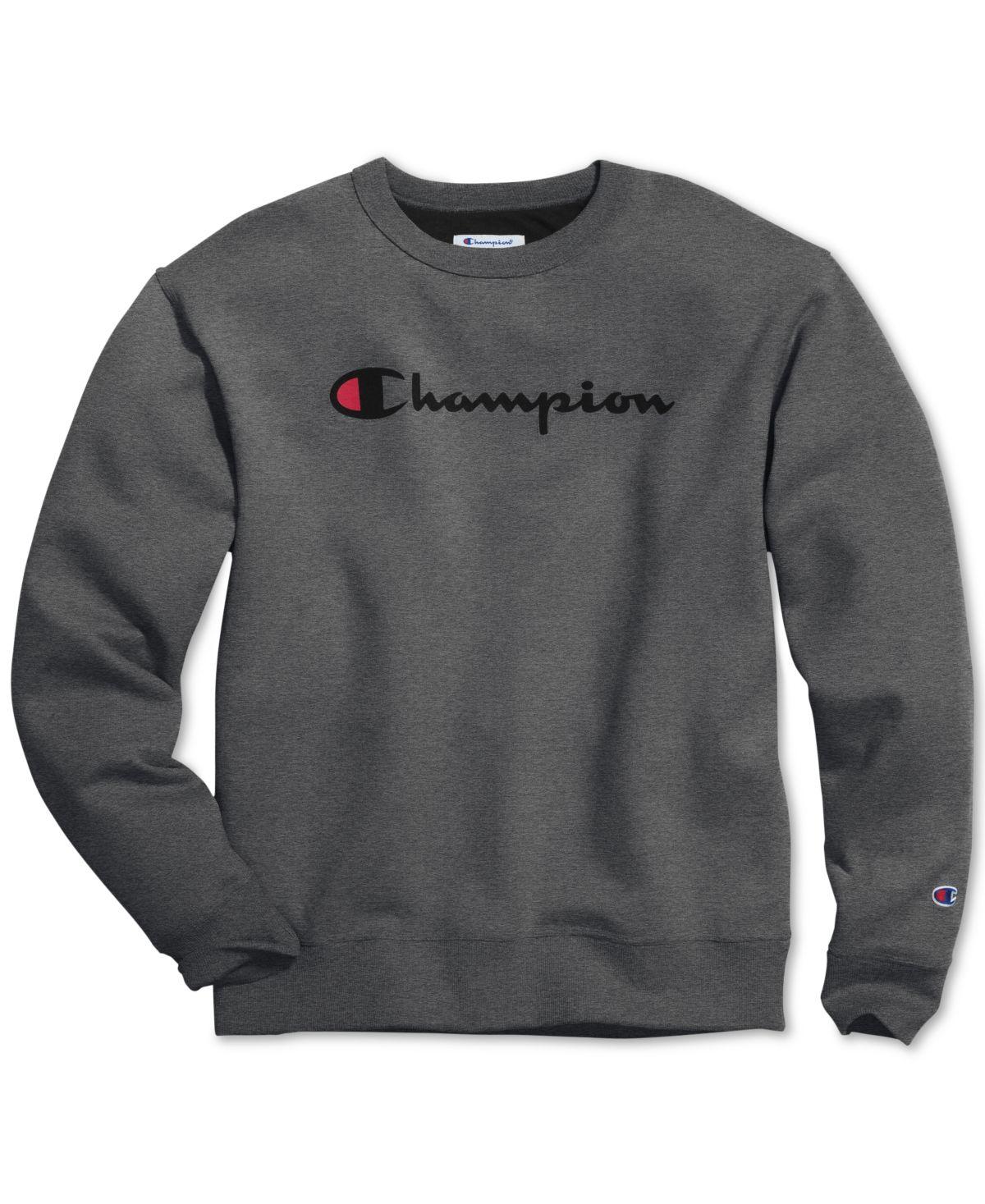 Champion Men S Powerblend Fleece Logo Sweatshirt Granite In 2020 Mens Sweatshirts Sweatshirts Champion Clothing [ 1467 x 1200 Pixel ]