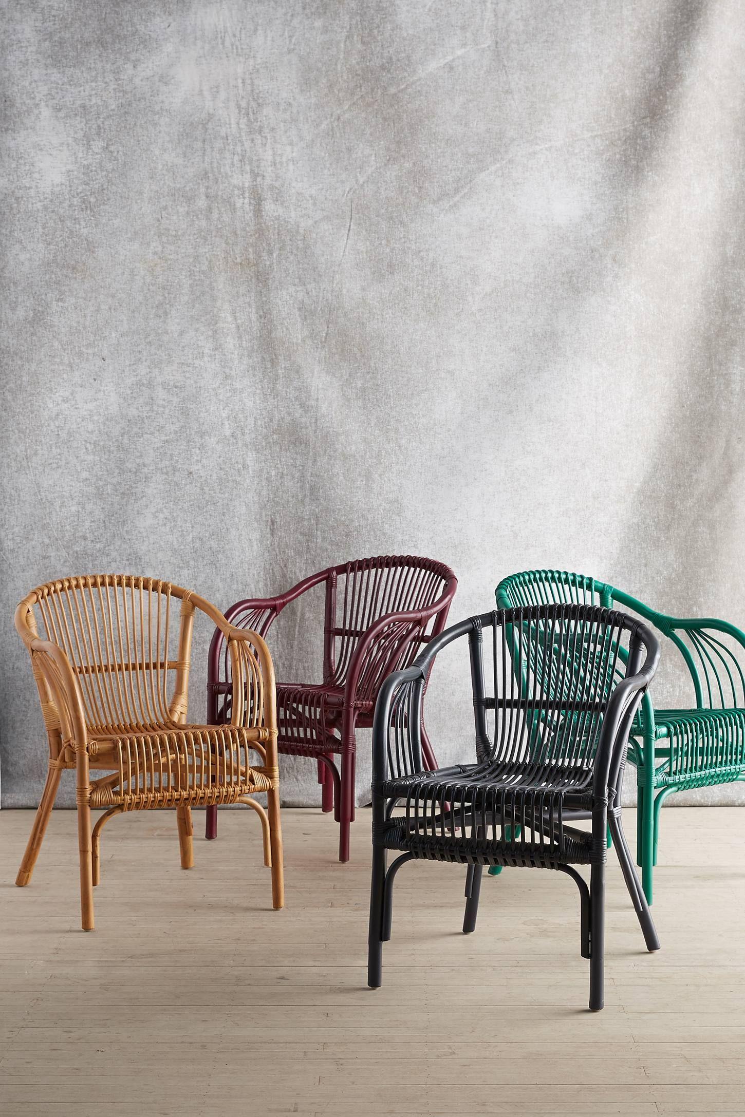 Pari Rattan Chair Rattan Dining Chairs Boho Furniture Rattan Chair