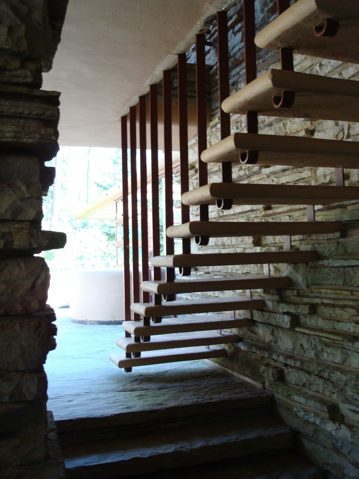 Frank Lloyd Wright Stairs, Falling Water