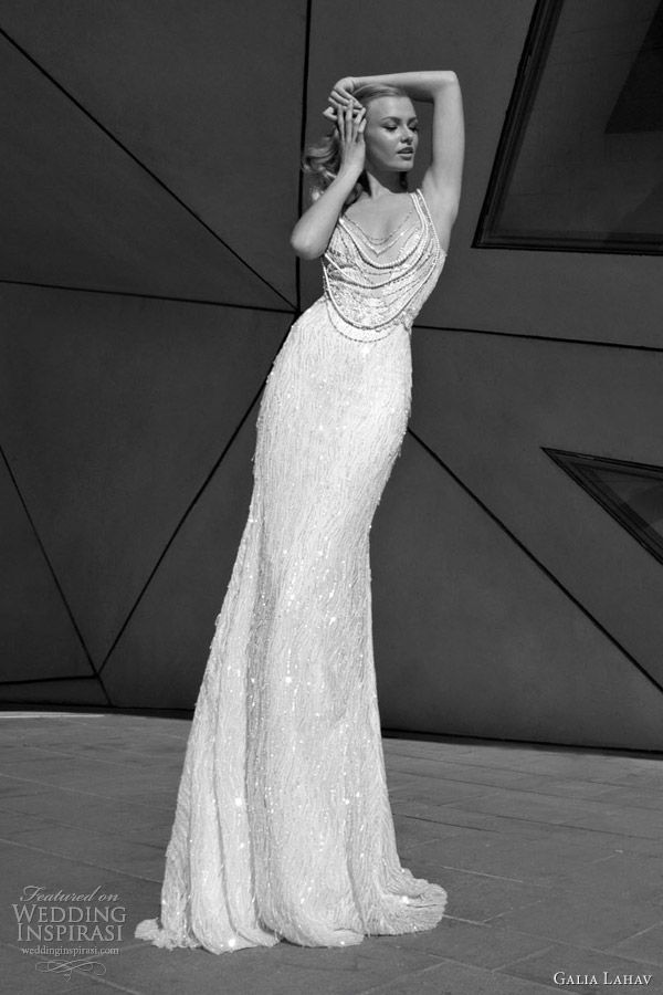 galia lahav bridal 2012 glamorous wedding dresses bead neckline. I really love that neckline !