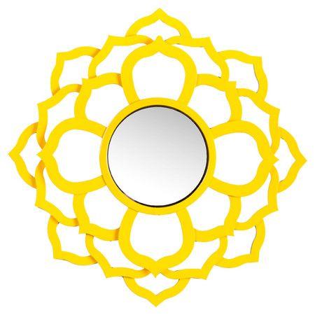 Daisy Wall Mirror // like a happy, blooming mandala